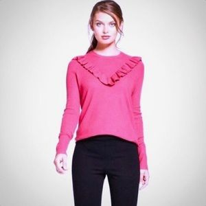 A New Day pink front ruffle sweater